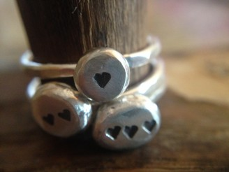 Chunky Heart Sterling Silver Ring