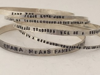 Custom Stamped Bangle Bracelet