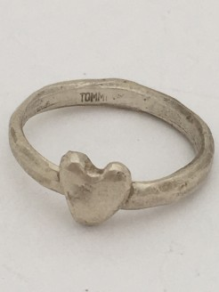 Hand Cast Chunky Heart Single Ring