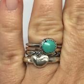Hand Cast Chunky Single Heart Ring
