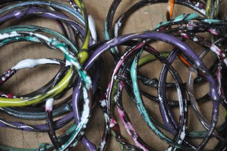 Enamel Dipped Bangle Bracelets